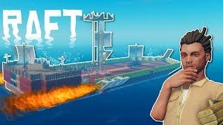 ROCKET PIRATE SHIP?! - Raft Multiplayer Gameplay - Survival Raft Building Game