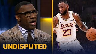 Shannon Sharpe gives LeBron James a 'B+' for his performance in a win over Suns | NBA | UNDISPUTED
