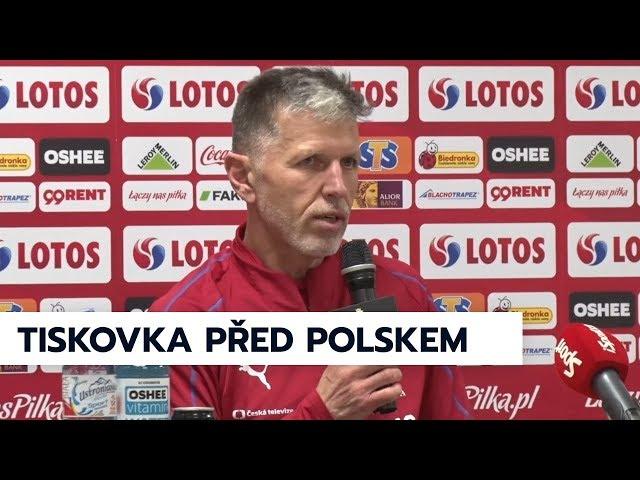 Tisková konference před zápasem s Polskem
