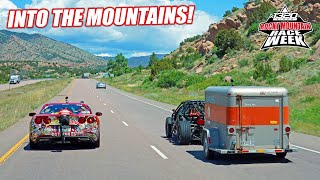 Race Week DAY 2: Mountain Driving the Racecars to Denver - RAIN, Bald Eagles, and Overheating!
