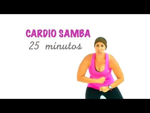 Rutina completa de cardio samba para perder peso bailando