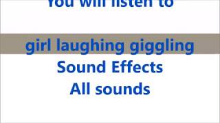 girl laughing giggling Sound Effects All sounds