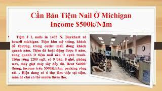 Cần Bán Tiệm Nail Ở Michigan Income Trên $500k / Năm