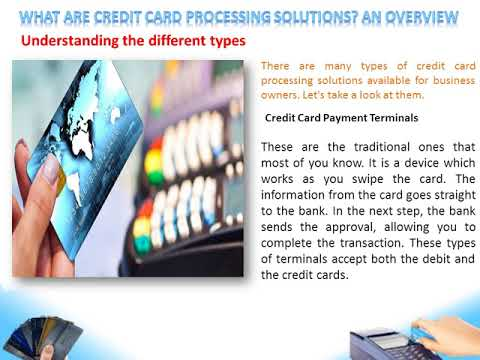 What are credit card processing solutions
