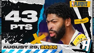 Anthony Davis EPIC 43 Points Full Game 5 Highlights vs Blazers | August 29, 2020 NBA Playoffs