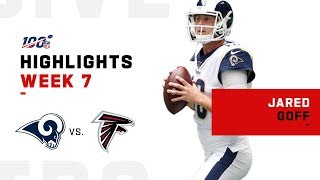 Jared Goff Takes Flight vs. Falcons for 3 TDs | NFL 2019 Highlights