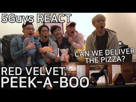 [THIRSTY FANBOYS] Red Velvet - Peek-A-Boo (5Guys MV REACT)