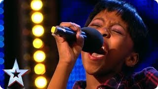 11 year old Diva Asanda Jezile sings Diamonds   Britain's Got Talent