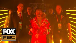Manny Pacquiao, Keith Thurman make entrances for main event title fight   PBC ON FOX