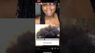 Weluvche reveals how many bodies she got on Instagram LIVE!