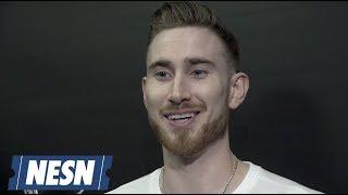 Gordon Hayward Celtics vs. Hawks Postgame Locker Room 12/14