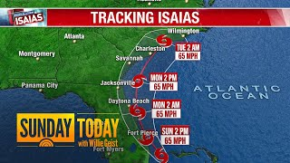 Tracking Isaias: Where Is The Storm Headed?   Sunday TODAY