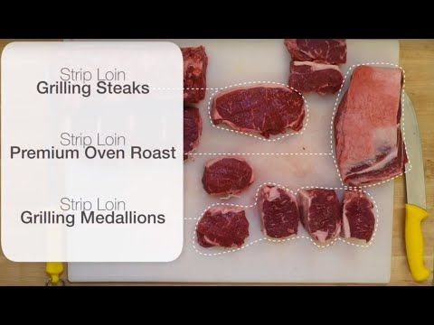 Video: Canadian Beef Centre of Excellence (CBCE) Technical Manager Abe Van Melle shows how to cut roasts, steaks and medallions from a beef strip loin. For more Butchery Backstory and DIY Butcher Skills videos, visit youtube.com/LoveCDNBeef.