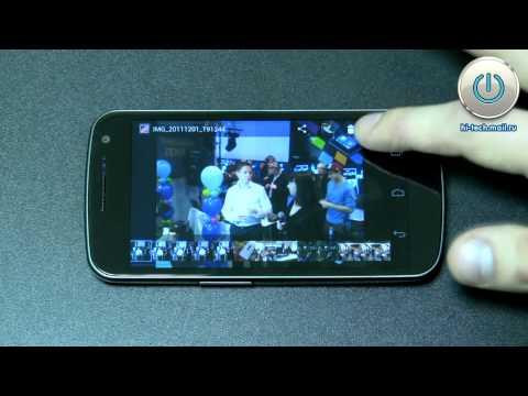 Видеообзор Google Android 4.0.1 Ice Cream Sandwich на Samsung Galaxy Nexus