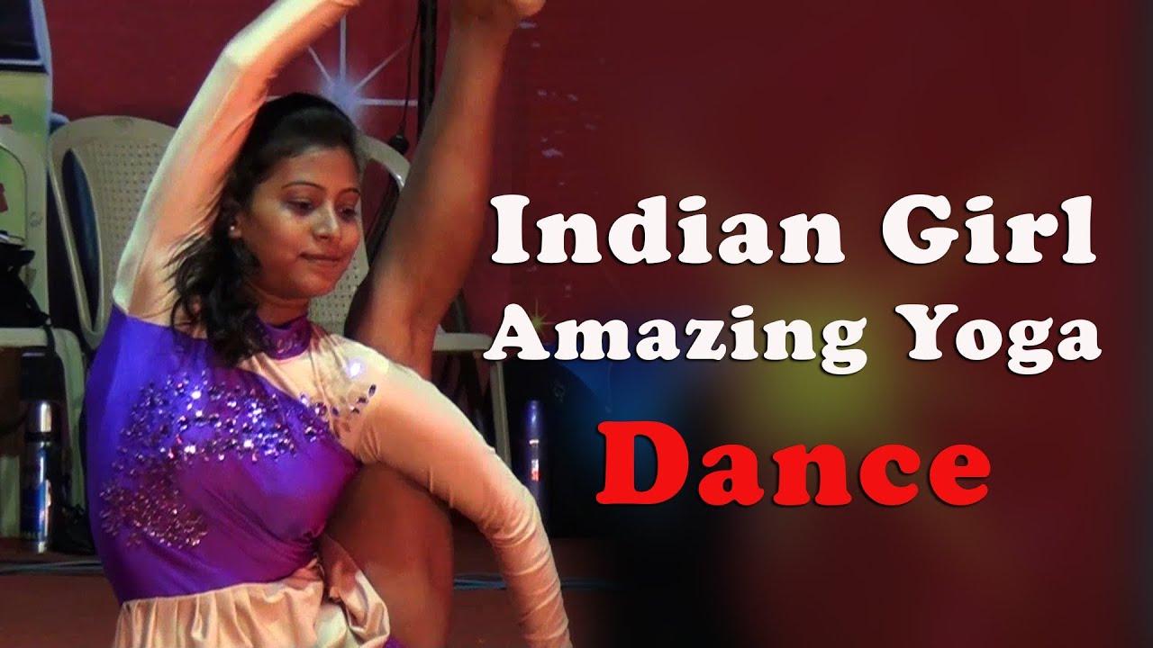 Indian Girl Amazing Yoga Dance - Red Pix - YouTube