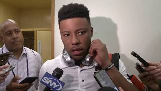 Saquon Barkley postgame after Giants vs. Browns