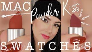 MAC Powder Kiss Lipstick SWATCHES | ALL 16 SHADES