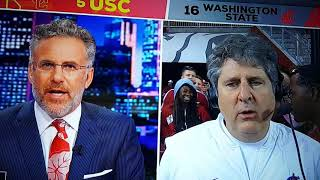 Mike Leach has some thoughts after Wazzu beats USC 30-27