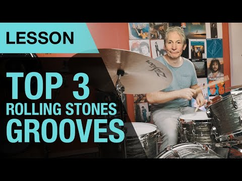 Top 3 Rolling Stones Drum Grooves | Charlie Watts | Drum Lesson