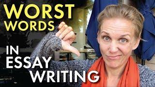 11 Words to Strike from Student Writing, Literary Analysis Writing, High School Teacher Vlog