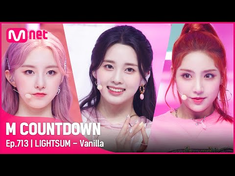 [LIGHTSUM - Vanilla] Hot Debut Stage | #엠카운트다운 EP.713 | Mnet 210610 방송