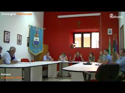 Consiglio Comunale Rofrano 9 settembre 2014