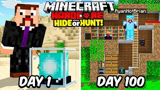 I Survived 100 Days in a Hardcore Minecraft Hide or Hunt...