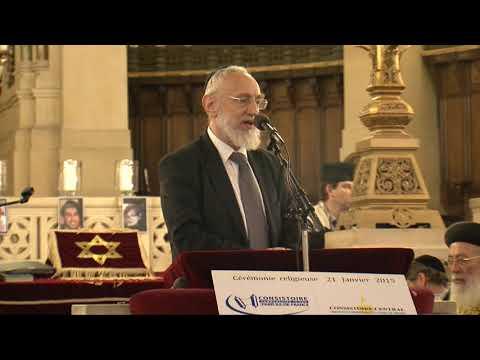 21 janvier 2015   Intervention de Michel Gugenheim   Grand Rabbin de Paris
