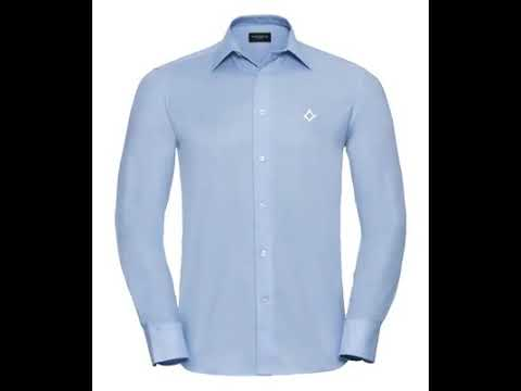 video Smart/Casual shirt – Embroidered – A lovely Freemasons gift or present