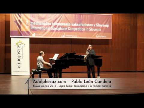 Pablo Leon Candela - Nova Gorica 2013 - Lojze Lebič Invocation - à Primož Ramovš