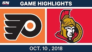 NHL Highlights | Flyers vs. Senators - Oct. 10, 2018
