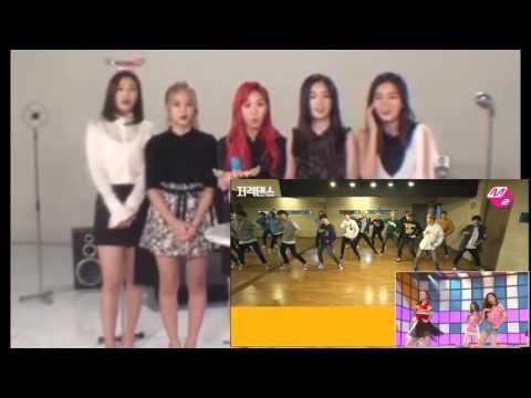 Red Velvet reaction to SEVENTEEN - dumb dumb (cover dance)
