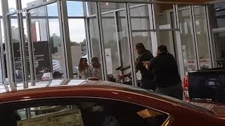 Raw video: Greenville dealership shooting