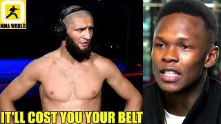 Khamzat Chimaev reacts to Israel Adesanya calling him a 'RAT LIP',Paulo Costa,Mike Perry,UFC 253