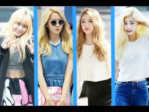 Female Kpop  Idols That Rock Blonde Hair ( 2016 )