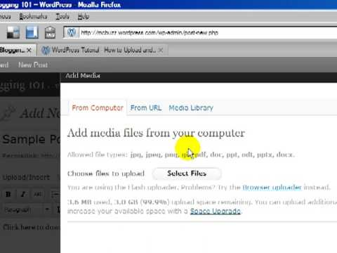 WordPress Tutorial - How to Upload & Link to a PDF, Microsoft Word doc, or other doc
