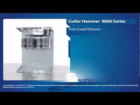 Cutler Hammer 9800 Series Twin Fused Disconnect Feeder Bucket
