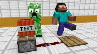 Monster School: Redstone Builds - Minecraft Animation