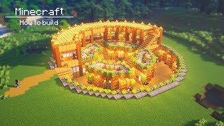 Minecraft : How To Build a Large circle underground and ground base
