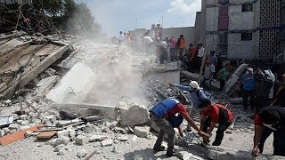 Buildings sway and people panic as 7.1 magnitude earthquake strikes Mexico