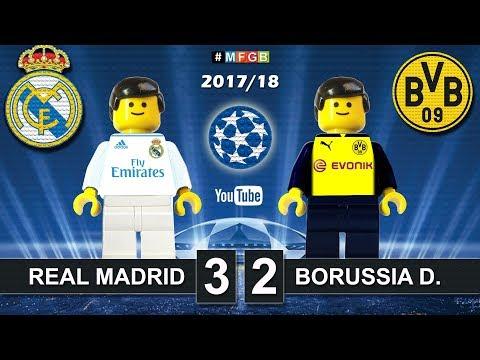Real Madrid - Borussia Dortmund 3-2 • Champions League (06/12/2017) Goals Highlights Lego 2017/18