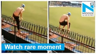 A fan jumps 10-ft fence during live match, see how Kohli r..