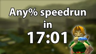 Ocarina of Time Any% speedrun in 17:01 by Torje [Former World Record]