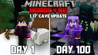 I Survived 100 Days in the 1.17 Cave update in Minecraft Hardcore