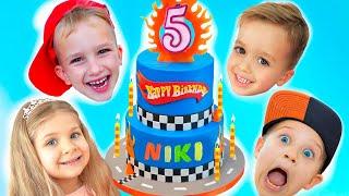 Happy Birthday Niki! Kids Birthday party with Vlad, Diana and Roma