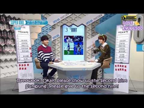 [ENG] 150206 Super Idol Chart Show: Xiumin Habit