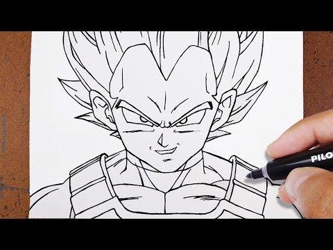 como desenhar goku super saiyajin 2 vs majin vegeta desenha fácil