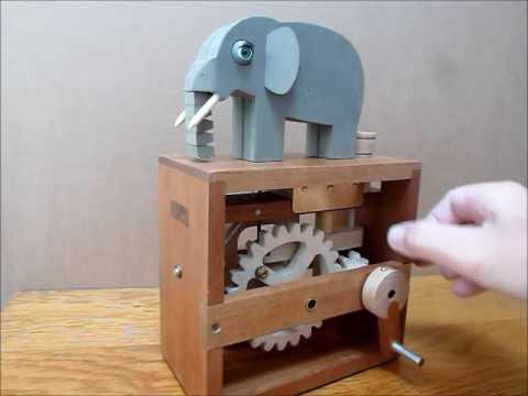 ELEPHANT - Wooden Automaton by BANOFALK of OTLEY