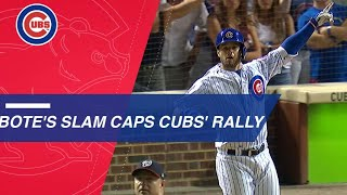 David Bote hits a walk-off grand slam to rally Cubs past Nats