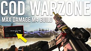 Call of Duty Warzone Max Damage M4 build is Insane...